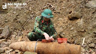 Hủy nổ thành công quả bom nặng 115 kg