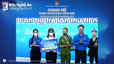 Phóng viên Báo Nghệ An đạt giải Nhất tại cuộc thi Olympic tiếng Anh cán bộ trẻ toàn quốc