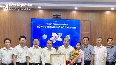 Sở Y tế Nghệ An trao đổi, học tập kinh nghiệm tại Sở Y tế thành phố Hồ Chí Minh