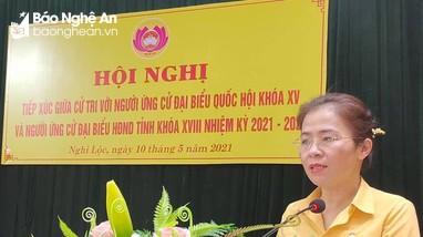Ứng cử viên đại biểu Quốc hội và HĐND tỉnh tiếp xúc cử tri tại Nghi Lộc