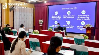 Nghệ An: Tập huấn kiến thức kỹ năng thông tin, tuyên truyền về dân tộc, tôn giáo