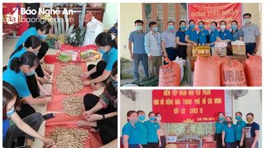 Công đoàn Nghệ An quyên góp hỗ trợ người dân vùng dịch ở TP. Hồ Chí Minh