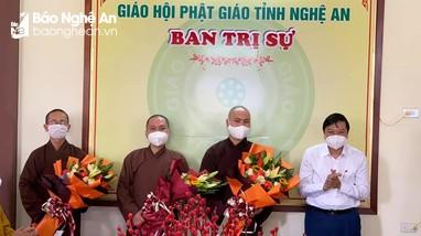Lễ xuất quân tham gia chống dịch tại TP Hồ Chí Minh của chư tăng Phật giáo Nghệ An
