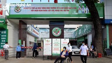 Bệnh viện Đa khoa Thành phố Vinh được phép hoạt động trở lại từ chiều 17/6
