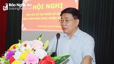 Phó Bí thư Thường trực Tỉnh ủy và đại biểu HĐND tỉnh Nghệ An tiếp xúc cử tri trước kỳ họp thứ 2