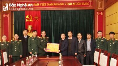 Bộ Tư lệnh Quân khu 4 chúc Tết Báo Nghệ An