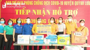 Các địa phương, đơn vị, doanh nghiệp ủng hộ Quỳnh Lưu phòng, chống dịch Covid - 19