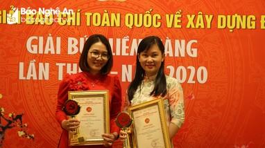 Báo Nghệ An đạt Giải Báo chí toàn quốc về xây dựng Đảng - Búa liềm vàng năm 2020