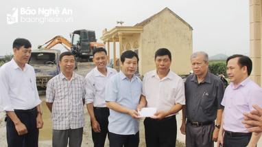Ban Tổ chức Tỉnh ủy hỗ trợ xây dựng nhà văn hóa tại huyện Nghi Lộc