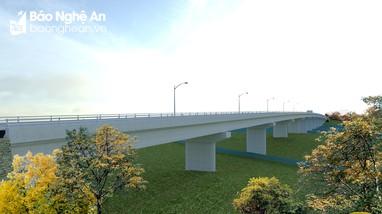 Con Cuông khởi công xây dựng cầu Thanh Nam bắc qua sông Lam