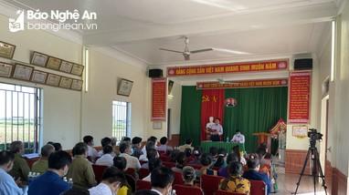 Chấm điểm cuộc sinh hoạt chi bộ mẫu ở Diễn Châu