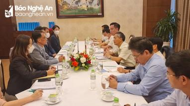 Đoàn công tác Đại sứ quán Hàn Quốc thăm, làm việc tại Nghệ An