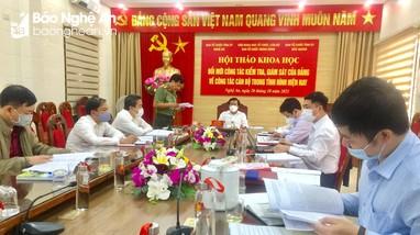Đổi mới công tác kiểm tra, giám sát của Đảng về công tác cán bộ