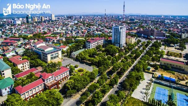 Trung tâm hành chính thành phố Vinh. Ảnh tư liệu