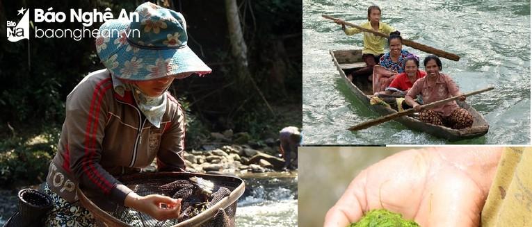 Phụ nữ trên sông nước.