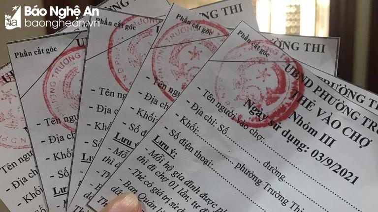 Video: Người dân thành phố Vinh đi chợ bằng thẻ theo ngày