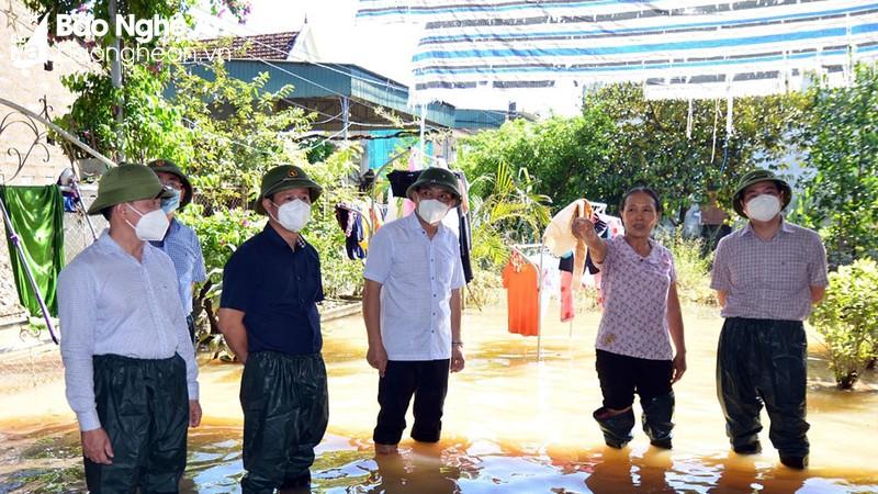 Kiểm tra, chỉ đạo công tác khắc phục hậu quả mưa lũ tại Nghệ An