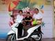 Khách hàng tại Nghệ An trúng thưởng Xe máy Honda Vision của Bảo hiểm Bưu điện