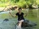 Người dân vùng cao Nghệ An thuê lán trại nghỉ lễ bên khe suối
