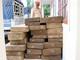 Tạm giữ xe mang biển số giả chở hơn 2,4 mét khối gỗ