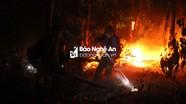 Khống chế được lửa rừng tại Diễn Châu sau 10 giờ liên tục chữa cháy