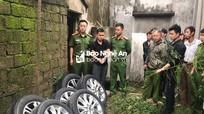 Bắt đối tượng gây ra hàng loạt vụ tháo trộm bánh xe ô tô ở Nghệ An