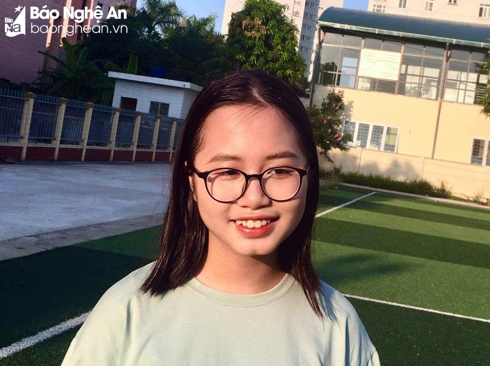Chân dung thủ khoa lớp 10 của Nghệ An năm 2021. Ảnh: NVCC.