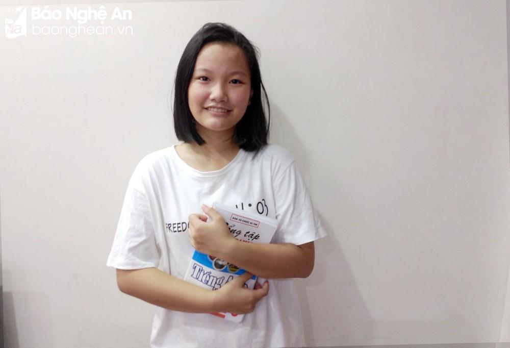 Chân dung điểm 10 môn Tiếng Anh duy nhất của tỉnh Nghệ An tại Kỳ thi tuyển sinh vào lớp 10. Ảnh: NVCC