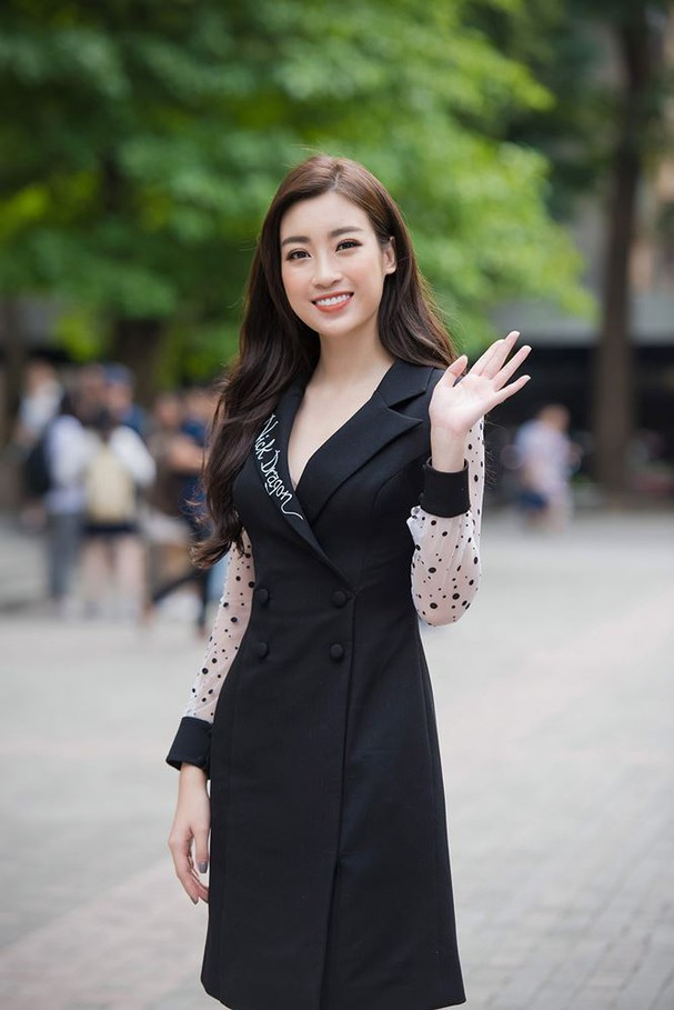 Hoa hậu Mỹ Linh rạng rỡ về trường tuyển sinh cho Hoa hậu Việt Nam 2018 - ảnh 2