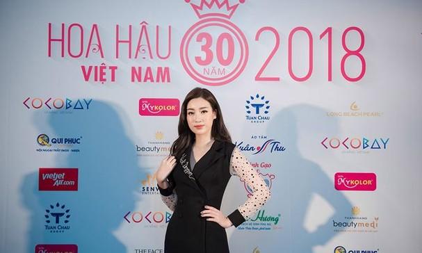 Hoa hậu Mỹ Linh rạng rỡ về trường tuyển sinh cho Hoa hậu Việt Nam 2018 - ảnh 5
