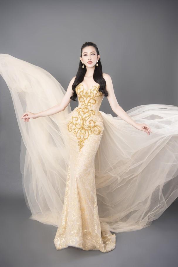 Thùy Tiên khoe sắc vóc chuẩn từng centimet trong bộ hình dạ hội mới - Ảnh 6.