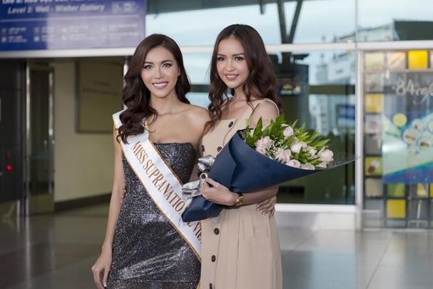 Người mẫu Ngọc Châu - mỹ nhân sẽ là đại diện Việt tham gia cuộc thi Miss Supranational 2019 đến cổ vũ Minh Tú.