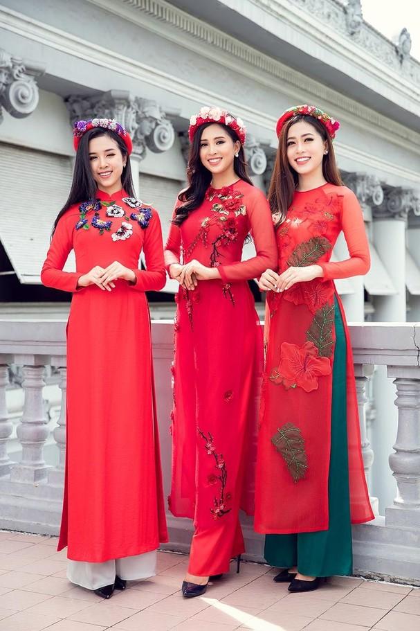 Top 3 HH Việt Nam 2018 khoe nhan sắc 'thanh xuân rực lửa' với áo dài - ảnh 9