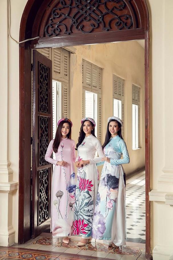 Top 3 HH Việt Nam 2018 khoe nhan sắc 'thanh xuân rực lửa' với áo dài - ảnh 10