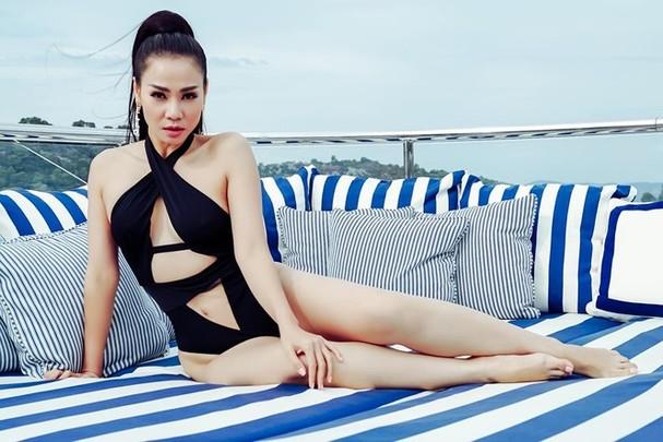 Thu Minh diện bikini khoe đường cong cực nóng bỏng - ảnh 6