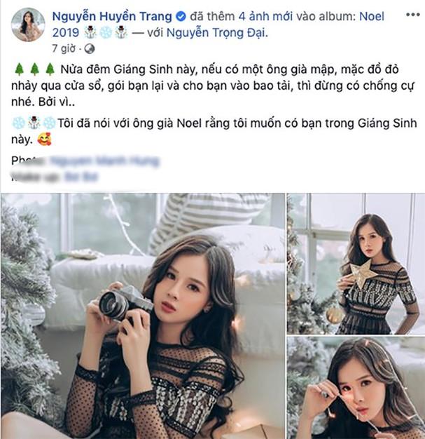 Dòng chia sẻ của Huyền Trang nhận được nhiều sự yêu thích của cộng đồng mạng, đặc biệt là người hâm mộ của cặp đôi.