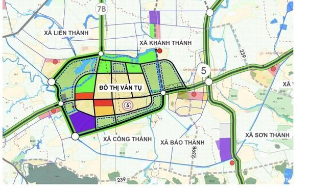 Quy hoạch đô thị Vân Tụ, Công Thành, Yên Thành. Ảnh: Trân Châu