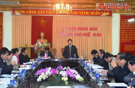 Đồng chí Hồ Đức Phớc phát biểu chỉ đạo tại buổi làm việc