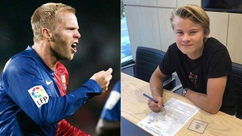 Real ký hợp đồng với con trai danh thủ Barca