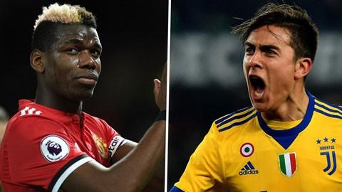 M.U có thể đổi Pogba lấy Dybala của Juventus