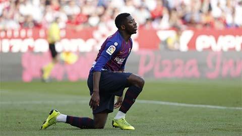 Barca nguy cơ mất Dembele ở màn tái đấu Lyon