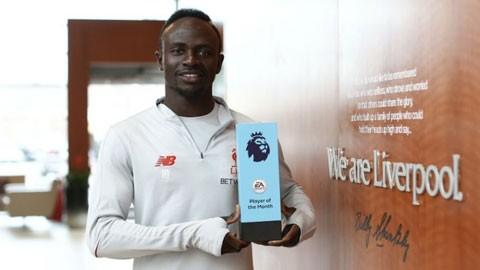 Liverpool thống trị giải thưởng tháng 3 của Ngoại hạng Anh