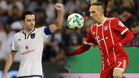 Ribery sắp tới châu Á làm đồng đội với Xavi