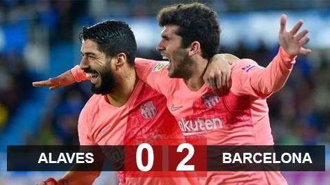 Alaves 0-2 Barcelona: Tiến sát ngôi vương