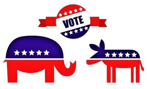 Bầu cử Tổng thống Mỹ thường là cuộc đua giữa đại diện hai đảng lớn Cộng hòa và Dân chủ; Nguồn: askideas.com