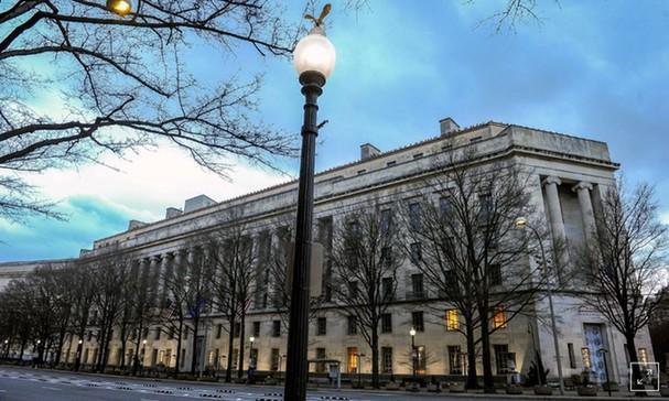 Trụ sở Bộ Tư pháp Mỹ. Ảnh: Reuters