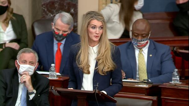 Thượng nghị sĩ Kelly Loeffler. Ảnh: Senate TV