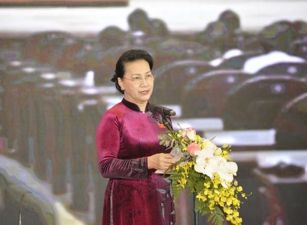 Chủ tịch Quốc hội phát biểu tại buổi lễ